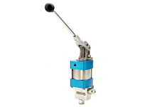 Compact, High Pressure Hand Lever Operated or Single Piston Air Driven Liquid Pump,Series ACHL189-01