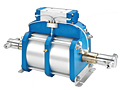 High Flow, High Pressure, Double Acting, Dual Piston Air Driven Liquid Pump,Series AHL66-2D